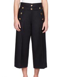 Sacai | Black Luck Sailor Culotte Pants | Lyst
