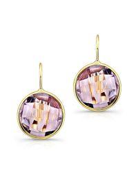 Anne Sisteron - Purple 14kt Yellow Gold Pink Amethyst Earrings - Lyst