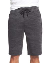 Hurley | Black 'phantom Session' Fleece Sweat Shorts for Men | Lyst