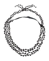 Ann Demeulemeester | Black Necklace | Lyst