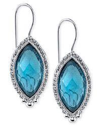 2028 | Blue Navette Drop Earrings | Lyst