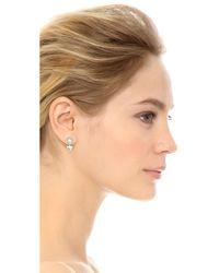 Rebecca Minkoff | Metallic Inverted Crystal Earrings - Silver/clear | Lyst