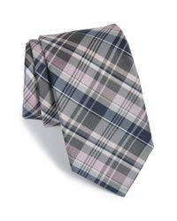 Michael Kors - Pink 'precious' Plaid Silk & Cotton Tie for Men - Lyst