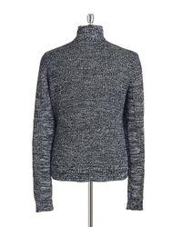 Guess   Gray Men's Marled Full-zip Sweater for Men   Lyst