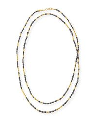 Gurhan | Multicolor Dark Mist Black Diamond & 24k Gold Necklace | Lyst