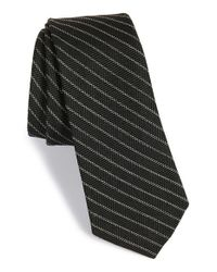 W.r.k. | Black Stripe Wool & Cotton Tie for Men | Lyst