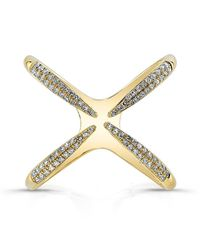 Anne Sisteron | 14kt Yellow Gold Diamond Claw Ring | Lyst