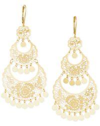 Macy's | Metallic Filigree Chandelier Earrings In 14k Gold | Lyst