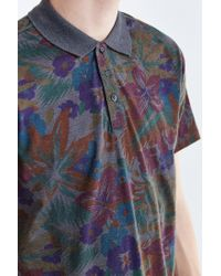 Vans - Gray Sherwood Floral Polo Shirt for Men - Lyst