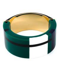 Marni - Green Colour Block Bracelet - Lyst
