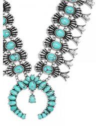 "BaubleBar - Gray Capri Amulet Collar Necklace, 18""l - Lyst"