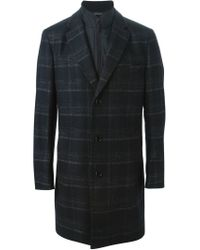 BOSS - Gray Built-in Gilet Coat for Men - Lyst