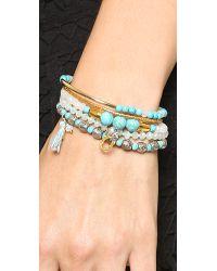 Chan Luu - Blue Beaded Bracelet Set Turquoise Mix - Lyst