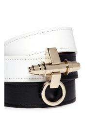 Givenchy - Black Obsedia Triple Wrap Leather Bracelet - Lyst