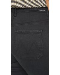 Mother | Black The Hustler Prep Jeans | Lyst
