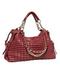 Big Buddha - Red Phoebe Woven Shoulder Bag - Lyst