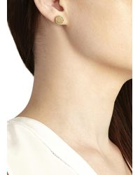 Marc By Marc Jacobs - Metallic Gold Tone Stud Earrings - Lyst