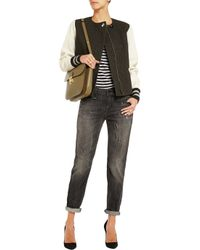 R13 - Gray Relaxed-Fit Skinny Low-Rise Stretch-Denim Jeans - Lyst