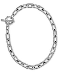 Michael Kors | Metallic Chain Link Toggle Necklace | Lyst