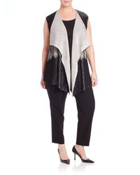Lafayette 148 New York - Black Two-tone Vest - Lyst