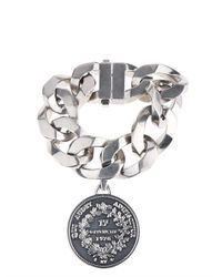 Givenchy - Metallic Oversized Chain And Medallion Bracelet - Lyst