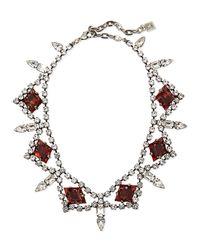DANNIJO - Metallic Devi Crystal Statement Necklace - Lyst
