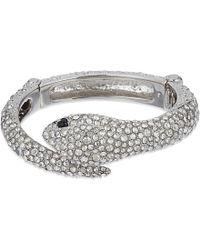 Roberto Cavalli | Metallic Swarovski Embellished Serpent Bracelet | Lyst