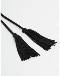 ASOS | Black Pack Of 2 Knee High Suede Look Tassel Anklets | Lyst
