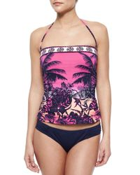 Tommy Bahama - Multicolor Tropical-Print Bandini W/ Shirred Sides - Lyst