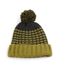 Gucci | Green Knit Wool Pom-pom Hat | Lyst