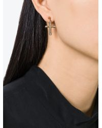 Givenchy   Metallic Cross Earrings   Lyst