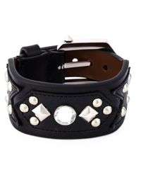 Givenchy - Black Embellished Cuff - Lyst