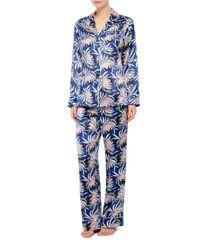 Olivia Von Halle | Multicolor Lila Bardot Silk Printed Shirt And Pants Set | Lyst