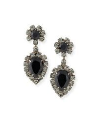 DANNIJO - Black Mirabella Jet Crystal Earrings - Lyst