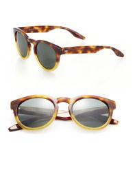 Barton Perreira - Brown Reece 52mm Round Sunglasses for Men - Lyst
