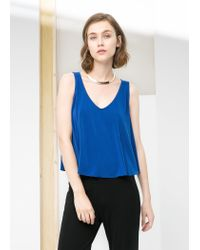 Mango - Blue Seam Top - Lyst