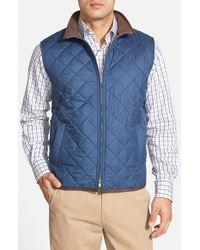 Peter Millar - Blue 'potomac' Water Resistant Quilted Full Zip Vest for Men - Lyst