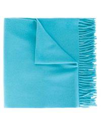 A.P.C. - Blue Fringed Scarf - Lyst
