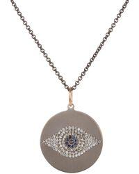 Ileana Makri - White Multi Gemstone & Titanium Evil Eye Pendant Necklace - Lyst