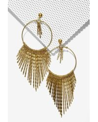 Nasty Gal | Metallic Harlem Hoop Earrings | Lyst