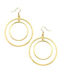 Kenneth Jay Lane | Metallic Golden Concentric Circle Earrings | Lyst