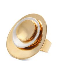 Robert Lee Morris | Metallic Goldtone Layered Circle Ring | Lyst