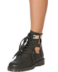 See By Chloé | Black 30mm Cutout Leather Ankle Boots | Lyst