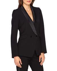 Catherine Malandrino - Black 'stephen' Double Breasted Tuxedo Jacket - Lyst