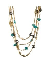 Alexis Bittar | Metallic Mosaic Multi Strand Necklace | Lyst