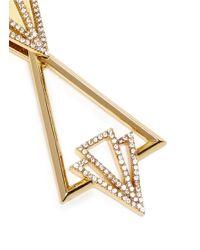 Lulu Frost   Metallic 'portico' Glass Pavé Free Swing Geometric Earrings   Lyst