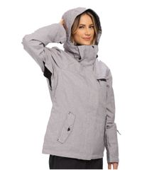 Roxy   Gray Jetty Solid Snow Jacket   Lyst