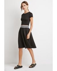 Forever 21 - Black Varsity Stripe Pleated Skirt - Lyst