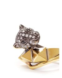 Iosselliani | Metallic Crystal Pavé Panther Ring | Lyst