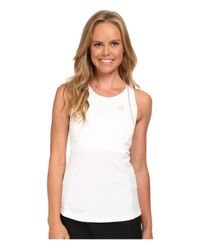 New Balance - White Tournament Racerback Top - Lyst